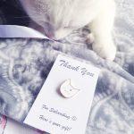 I heart cats white enamel pin