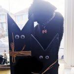 black cat wooden ornaments
