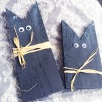 black wooden cat ornaments