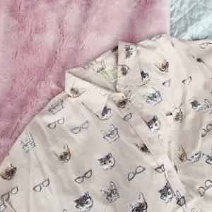 cat-print-short-sleeve-shirt