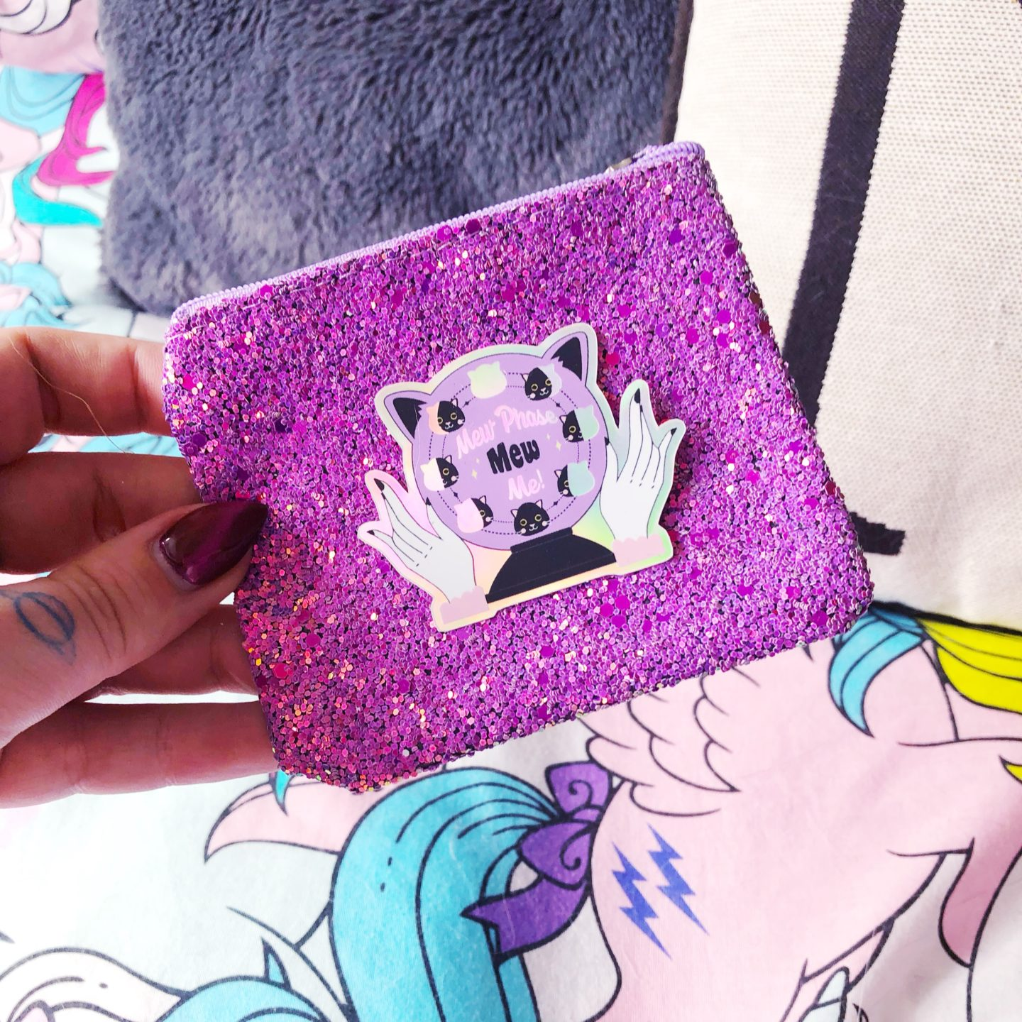 sparkly coin purse