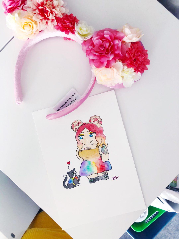 a picture of a claire's doodles commission portrait